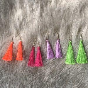 Bundle of Tassel Earrings
